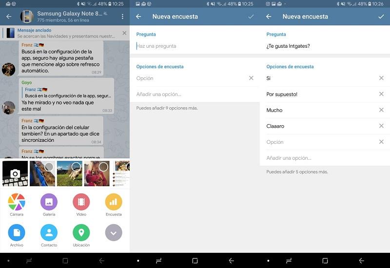 Encuestas Telegram